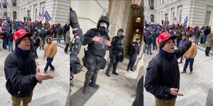 Trump supporter - Capitol police