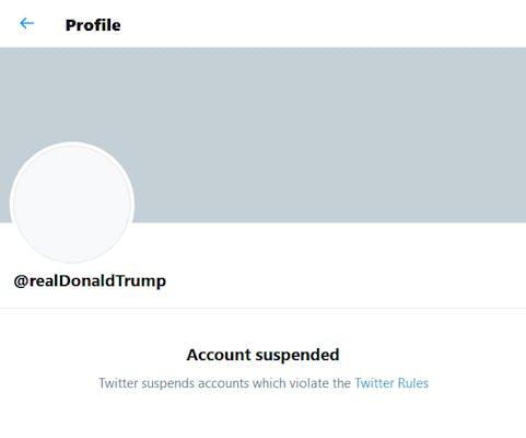 Twitter Suspend Trump