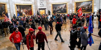 Trump supporters storming the U.S. Capitol