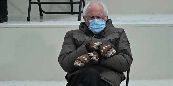 bernie sanders inauguration reaction memes