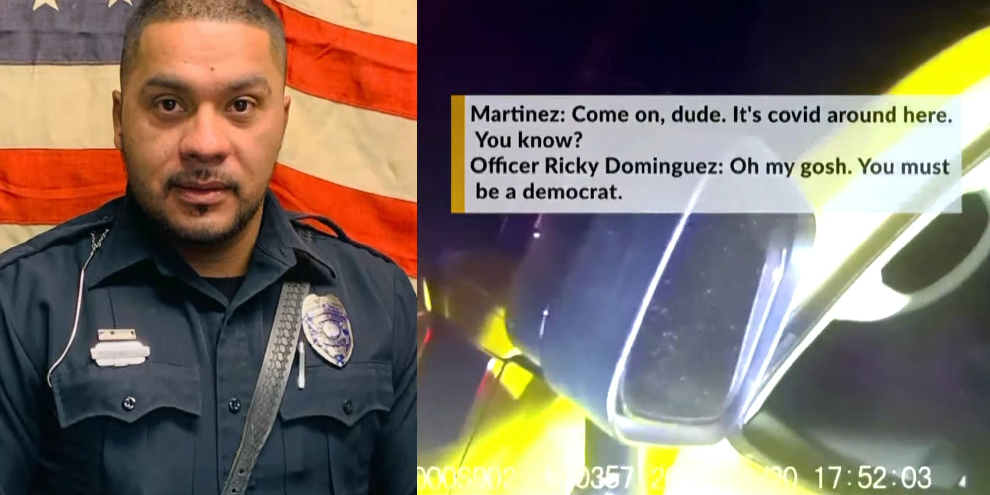 bosque farms police officer Ricky Dominguez during traffic stop