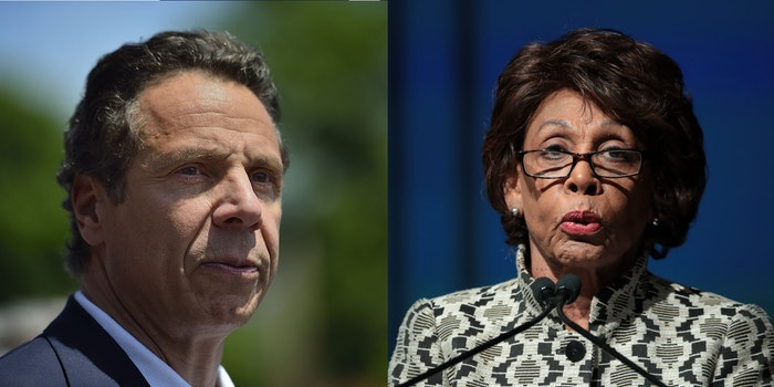 Andrew Cuomo and Maxine Waters