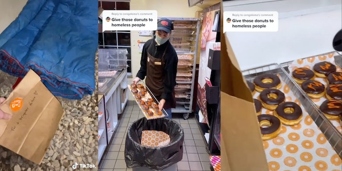 dunkin employee who exposed food waste fired