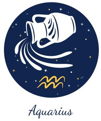 Aquarius as represented by the Water Bearer.