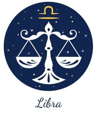 Libra is symbolized as the scales.