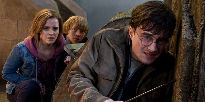 Hermione, Ron, and Harry Potter