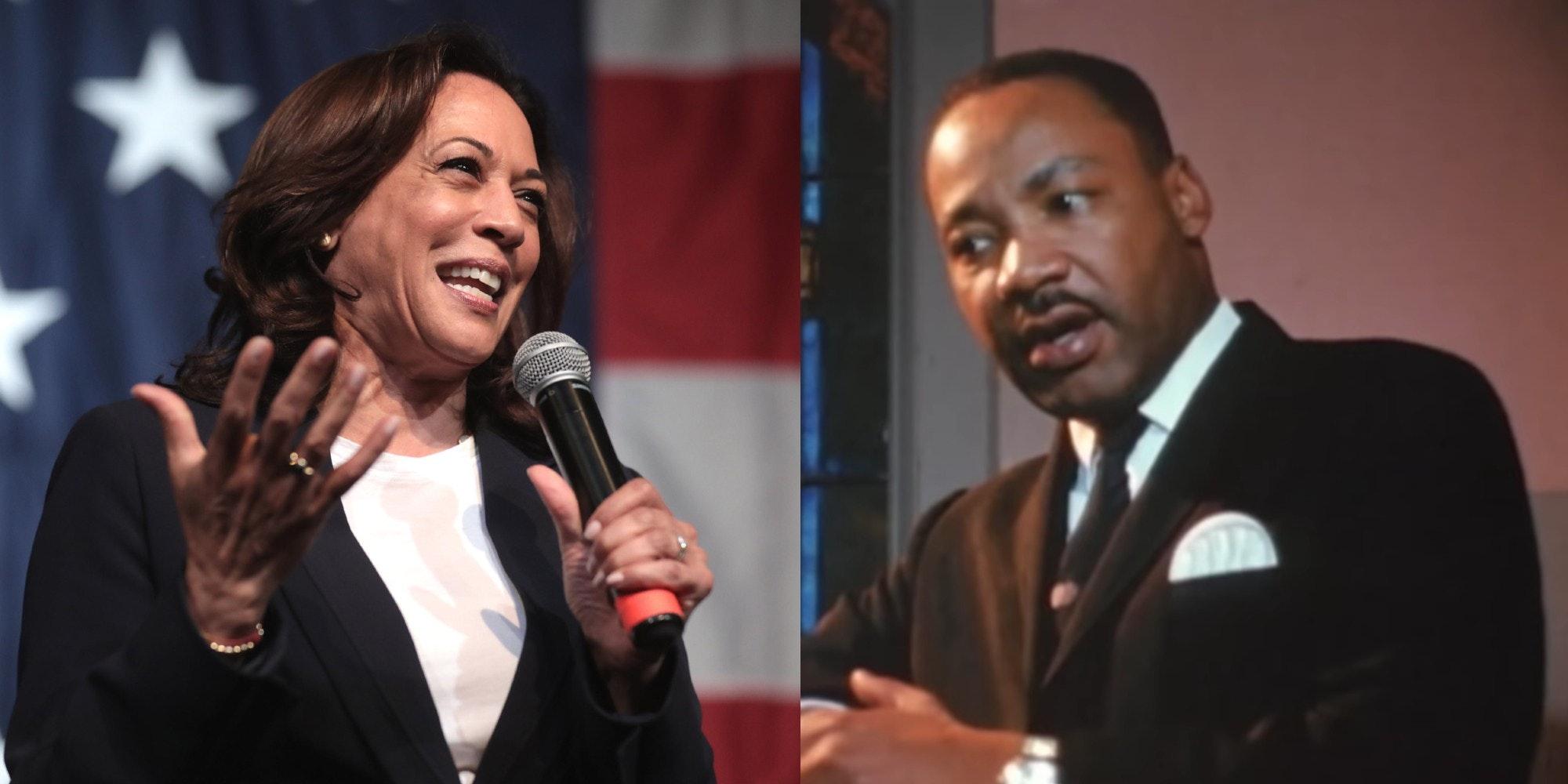 Kamala Harris and Martin Luther King Jr.