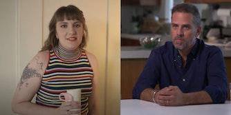 Lena Dunham and Hunter Biden
