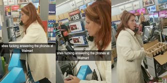 Mom answers phones at Walmart in viral TikTok