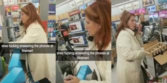 Mom answers phones at Walmart in viral TikTok