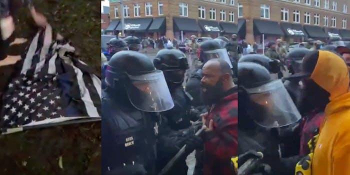 police proud boys salem fight videos
