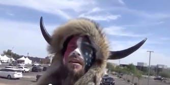 qanon-shaman-jake-angeli-harassing-covid-testers-arizona