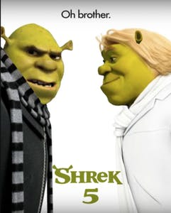 Meme poster showing Shrek 5