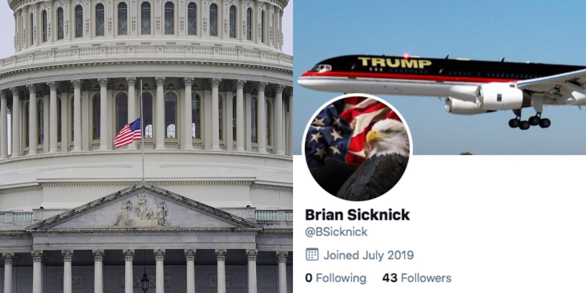 Brian Sicknick trump twitter account