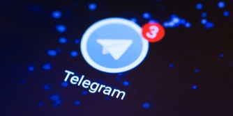telegram app with 3 notifications on phone