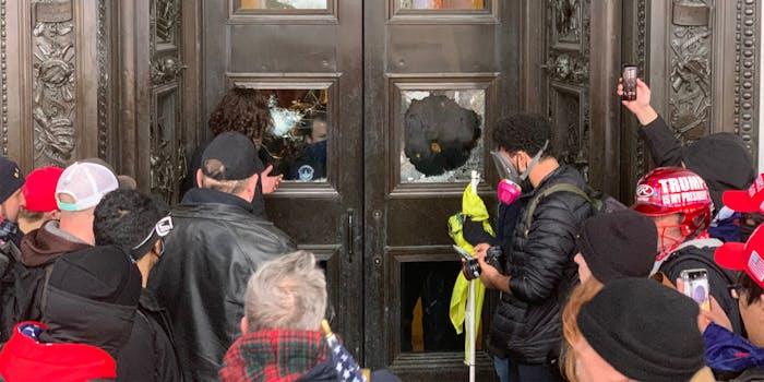 Trump supporters smash windows to break into the Capitol building