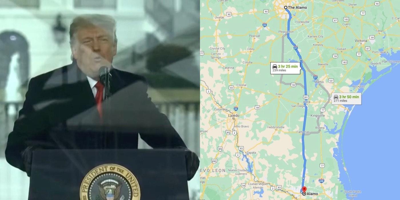 trump-visiting-alamo-texas-wall-memes 1