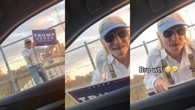 TikToker tells delusional Trump supporter to move on