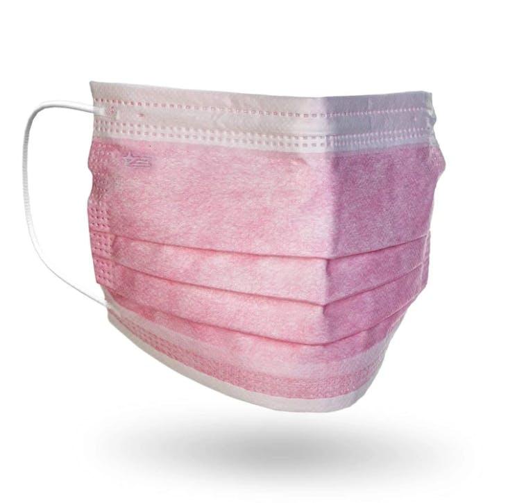 light pink surgical mask