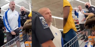 white man accuses Black Wal-Mart manager of being racist for asking him to wear a mask