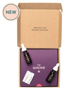 Foria's quickie kit includes CBD lube, CBD suppositories, and CBD oil