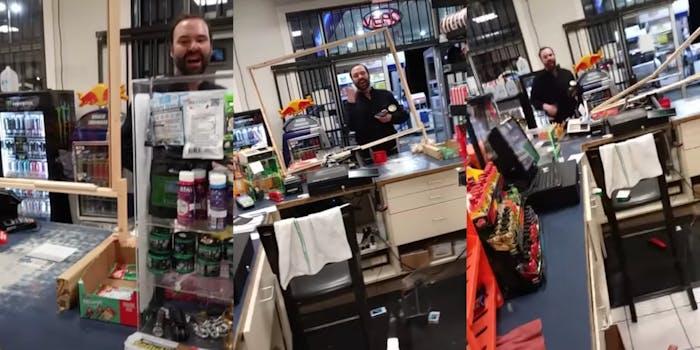 White man harasses gas station employee with anti-Muslim slurs