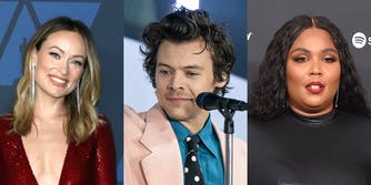 olivia wilde, harry styles, and lizzo