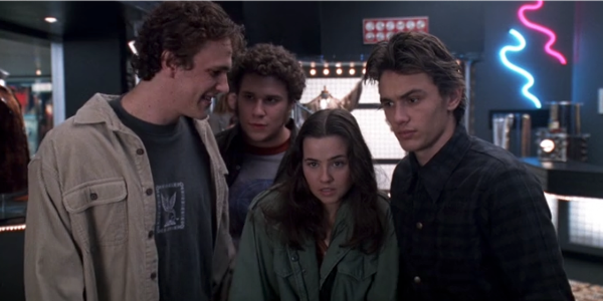 A still from the TV show Freaks and Geeks