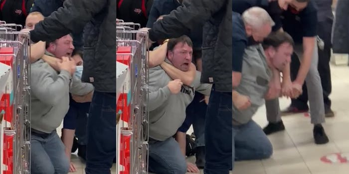 Canadian tire anti-mask fight video.