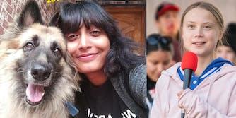(L) Disha Ravi (R) Greta Thunberg