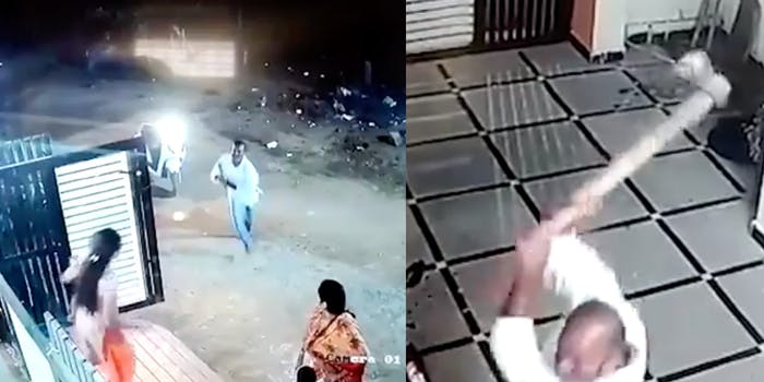 Video shows man swinging an ax at woman who rejected him
