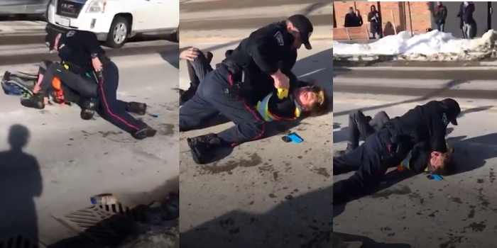 Screengrabs show officer hitting and threatening Ontario man with taser