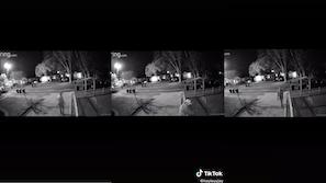 Security footage of ex-boyfriend stalker