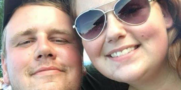 Chris Pekny and girlfriend - gender-reveal explosion