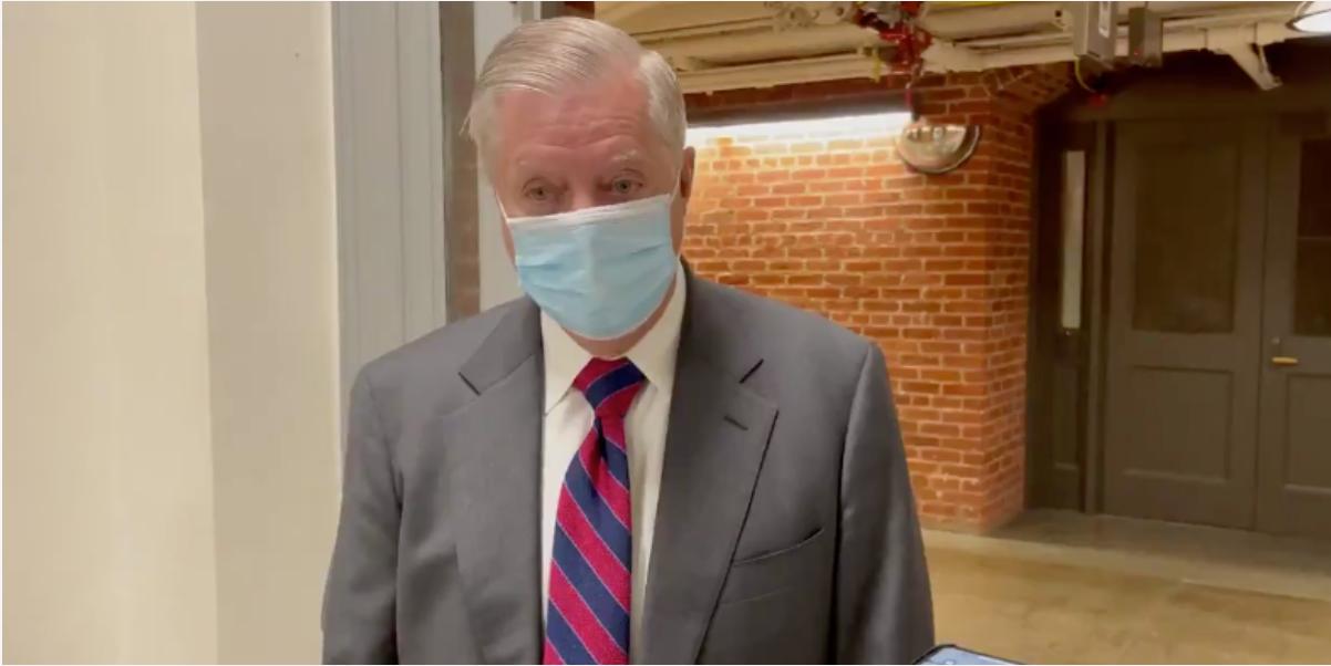 Sen. Lindsey Graham defends MTG to reporters