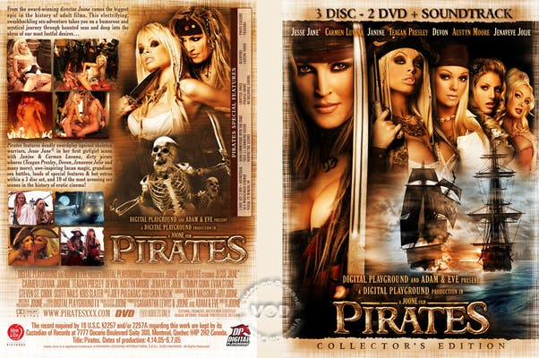 The cover art for Pirates, a famous porn parody inspired by Pirates of the Caribbean.