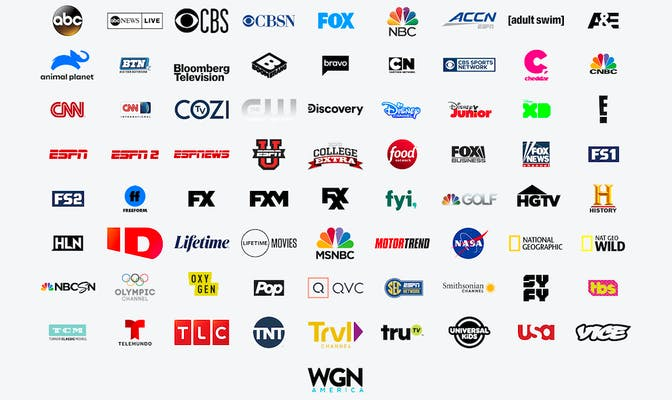 hulu live tv - channels