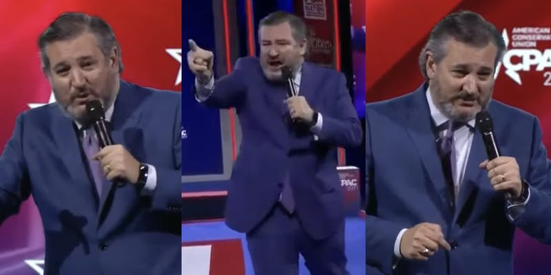 Ted Cruz screamed 'freedom' at the top of his lungs during a speech at CPAC.