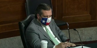 Ted Cruz appeared to be texting during a Senate hearing about security during the Capitol riot.