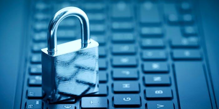 A padlock on a keyboard, symbolizing data privacy.