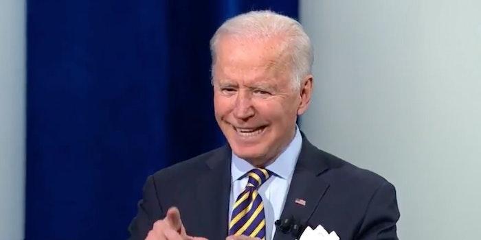 President Joe Biden at a CNN town hall