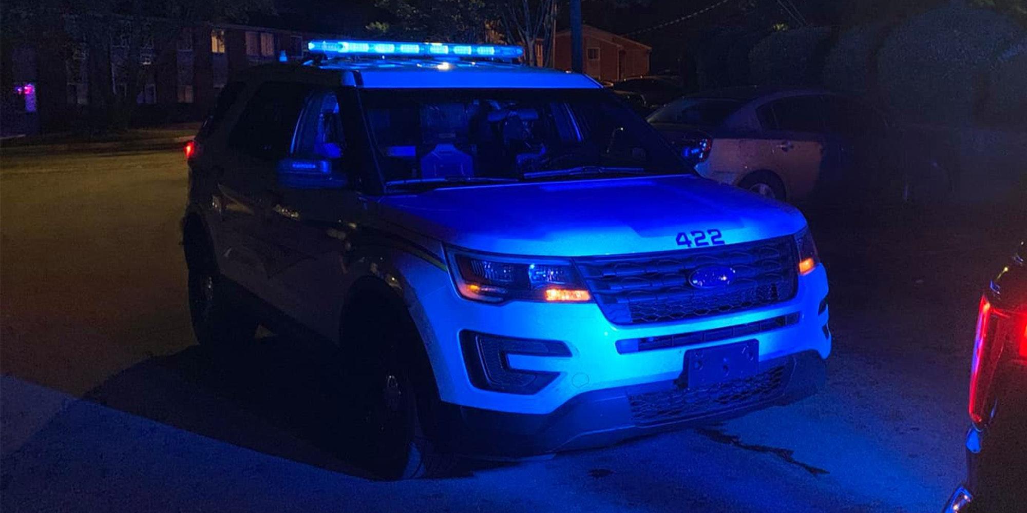 birmingham police car at night