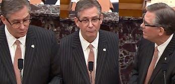 bruce castor speaks at trumps imeachment trial
