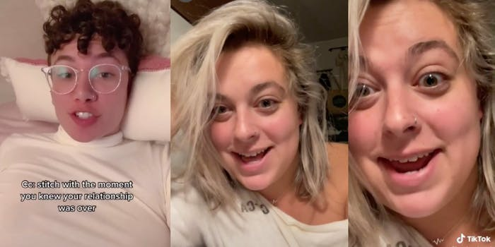 tiktok user brooke_abroad talking about how her boyfriend pretended she was dead so that he could cheat on her