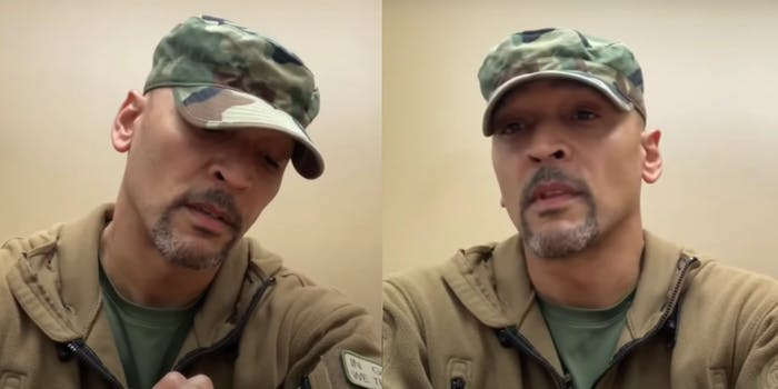 stills of clyde kerr III talking about racism and police brutality before dying by suicide