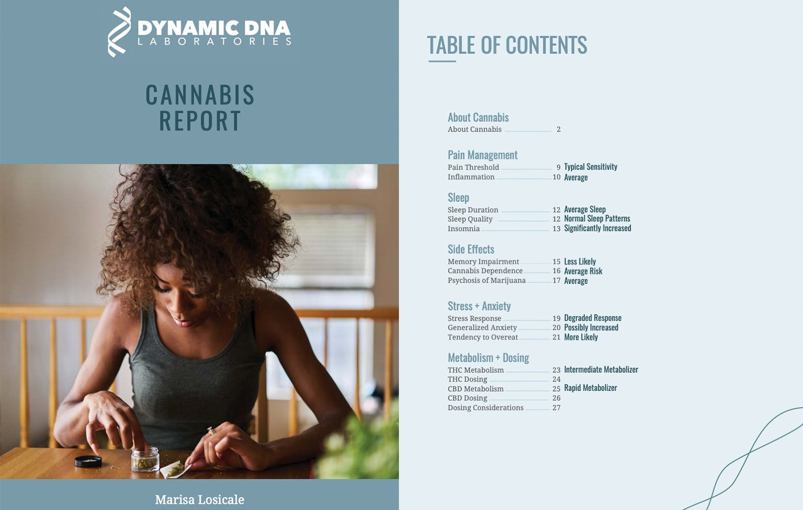 Introduction to Dynamic DNA Laboratories cannabis DNA test results