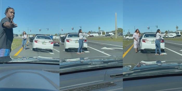 Florida 'Karen' pulls gun on Black man following traffic incident.