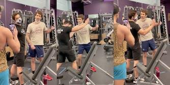 A man assaulting a gym employee