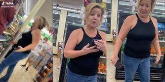 woman at dollar store in florida