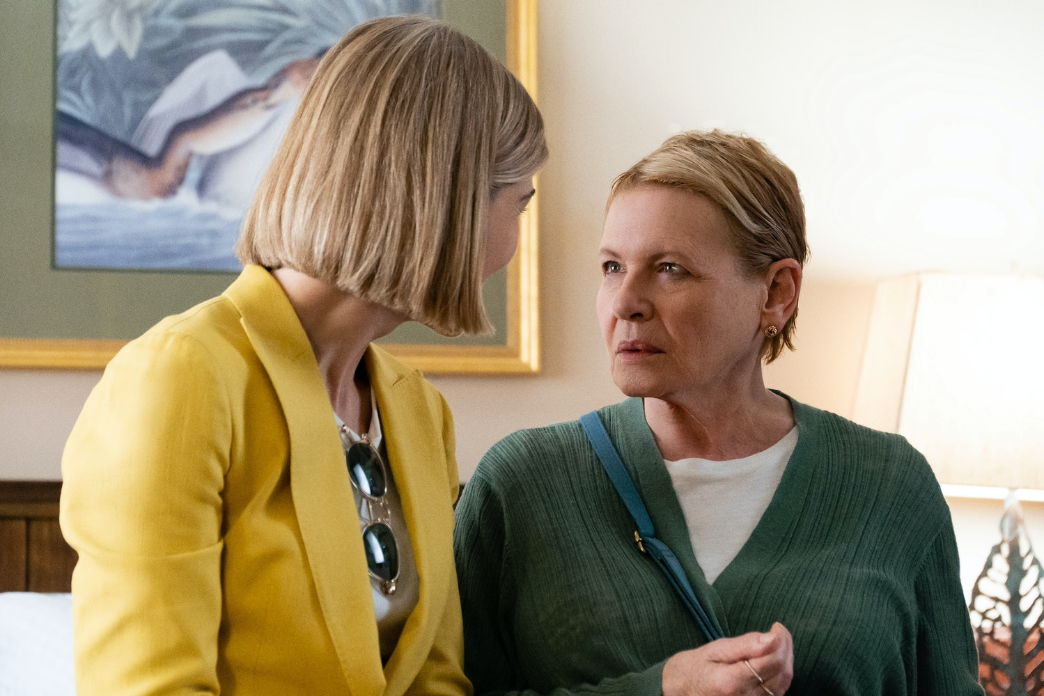 rosamund pike (left) and dianne wiest (right) in i care a lot